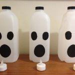 Painted milk cartons.